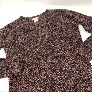 Club Monaco cable knit crewneck sweater